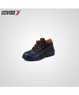 Udyogi Size-8 High Ankle Genuine Grain Leather Shoe -TANGO AK