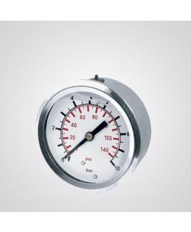 "WIKA 0-1000 BAR,4"" Dial Size,1/4"" BSP (M),Bottom Connection Pressure Gauge"