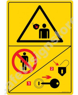 3M Converter 210X297 mm Danger Sign-DS432-A4V-01