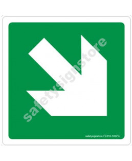 3M Converter 105X105 mm Fire Exit Emergency Sign-FE316-105PC-01