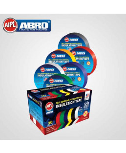 Abro 18mm x 8mtr PVC Electric Tape-Red-Pack Of 30