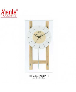 Ajanta 597X242X90mm Wooden  Pendulum  Clock-7527