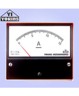 Yokins 100-500A Moving Coil Analog Panel Ammeter-DC120 (R)