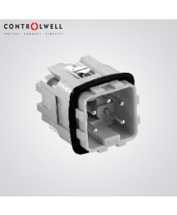Controlwell Multipole Industrial Connectors,Male Inserts For 3A size square enclosures-W08MCC/10A3
