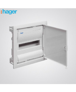 Hager IP43 4 Way Distribution Board-VYT04GH