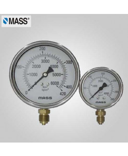 Mass Industrial Pressure Gauge (without filling) 0-40 Kg/cm2 63mm Dia-63-GFB-B