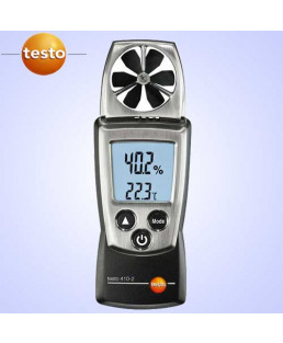 Testo Air Velocity Meter With 40Mm Vane With Temperature & Humidity Measurement-410-2