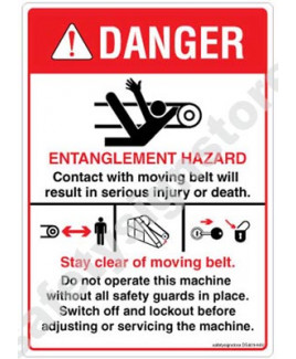 3M Converter 105X148 mm Danger Sign-DS403-A6V-01