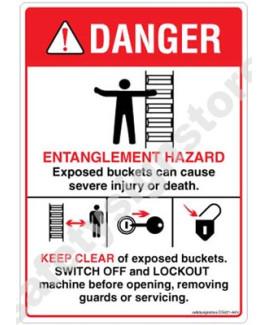 3M Converter 105X148 mm Danger Sign-DS421-A6V-01