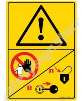 3M Converter 105X148 mm Danger Sign-DS430-A6V-01