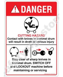 3M Converter 105X148 mm Danger Sign-DS434-A6V-01