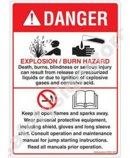 3M Converter 105X148 mm Danger Sign-DS501-A6V-01