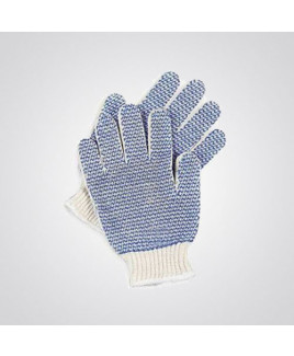 Cotton Knitted Dotted Hand Gloves- HNP-HPKNPD