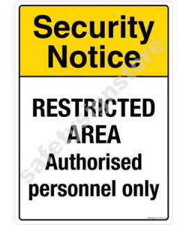 3M Converter 210X297mm Property & Security Signs-PS612-A4V