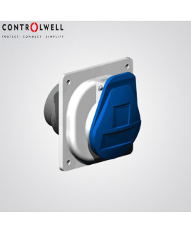Controlwell 16A 3P Panel Mounting Straight Socket-CPSS31647