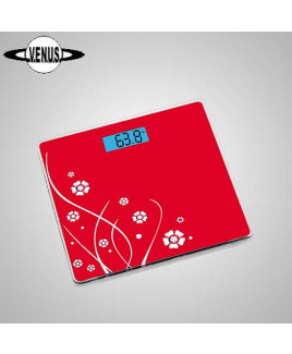 VENUS Red Electronic Digital Body Weight Weighing Scale Eps-6399