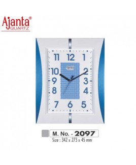Ajanta 342X273X45mm Fancy & Plain Clock-2097