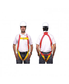 Alko Plus Full Body Harness: For Basic Fall Arrest (Class -A)(with APS 153 Double Rope 3 mtr.)-APS-401 (Pack Of 25)