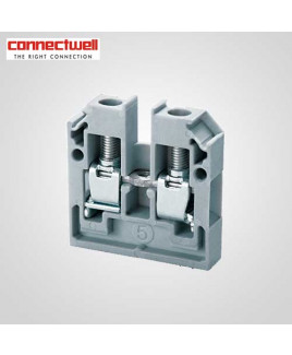 Connectwell 4 Sq. mm Panel Mount Grey Terminal Block-CMB4