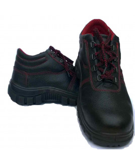 Concorde Size-8 PU Safety Shoes-Ankle