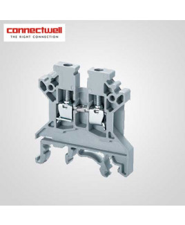 Connectwell 2.5 Sq. mm Feed Through Grey Terminal Block-CTS2.5UN