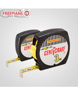 Freemans Centigraff 3m With Belt Clip & Lock Pocket Steel Tape
