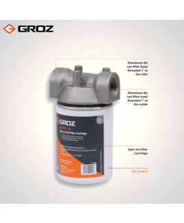 Groz 10 Microns Fuel Filter - Spin On Cartridge Style-FF/FFS/10