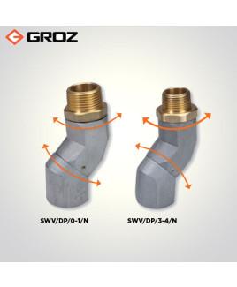 """Groz 1"""" NPT (F) X 3/4"""" NPT (M) Dual Plane Fuel Nozzle Swivel-SWV/DP/0-1/N"""