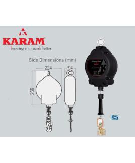 Karam 20m Retractable Block Aluminium Casing G.I. Wire Rope