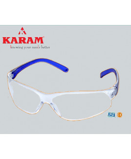 Karam Workers Choice white Safety Goggle-ES 010
