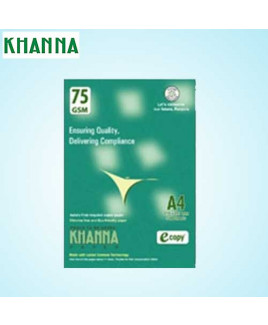 Khanna 75 gsm A4 Paper Sheet (Pack Of 500 Sheet)