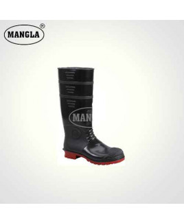 Mangla Size 6 Gold Year Steel Toe Gum Boot