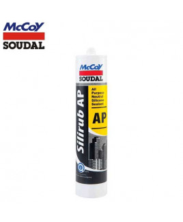 McCoy Soudal 280ml AP Neutral Silicone Sealant-White  (Pack Of 24)