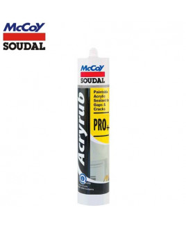 McCoy Soudal 450g PRO+ Paintable Acrylic Sealant-White (Pack Of 24)