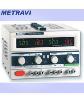 Metravi 2 x 0 - 30V DC DC Regulated Power Supply-RPS-3005-3