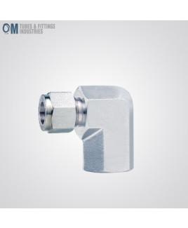 Om Tubes Stainless Steel 304, 90 Degee Female Elbow Tube Fittings 16mm x 1/2NPT  (Pack of 3)-OTFI-TF-FE-16MT-1/2NPT-304