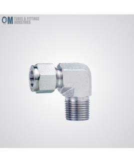 "Om Tubes Stainless Steel 304, 90 Degee Male Elbow Tube Fittings 24mm x 1""NPT  (Pack of 2)-OTFI-TF-ME-24MT-1NPT-304"