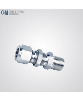 Om Tubes Stainless Steel 304 Bulkhead Male Connector Tube Fittings 12mm x 1/4NPT (Pack of 5)-OTFI-TF-BMC-12MT-1/4NPT-304