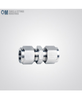 Om Tubes Stainless Steel 304 Union Tube Fittings 25mm (Pack of 2)-OTFI-TF-U-25MT-304