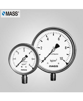 Mass Industrial Pressure Gauge (without filling) (-1)-0 Kg/cm2 100mm Dia-100-WPS-S