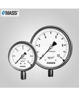 Mass Industrial Pressure Gauge 0-10 Kg/cm2 100mm Dia-100-WPS-S