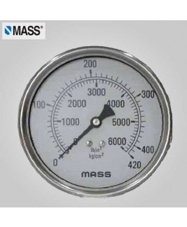Mass Industrial Pressure Gauge (without filling) 0-60 Kg/cm2 63mm Dia-63-GFB-B