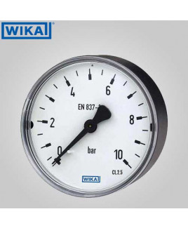 Wika Pressure Gauge With Accessories- Restrictor screw, brass(without filling) 0-7 kg/cm2 with psi 50mm Dia-111.12.50