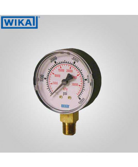 Wika Pressure Gauge (with Glycerine filling) 0-1 kg/cm2 with psi 63mm Dia-213.53.63