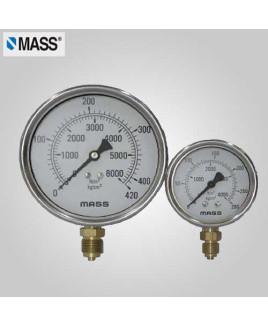 Mass Industrial Pressure Gauge 0-1 Kg/cm2 100mm Dia-100-GFB-B