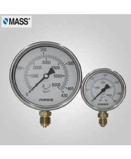 Mass Industrial Pressure Gauge (without filling) 0-100 Kg/cm2 63mm Dia-63-GFB-B