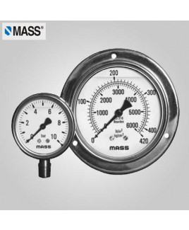 Mass Industrial Pressure Gauge (without filling) 0-0.6 Kg/cm2 100mm Dia-100-GFS-A