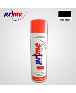 Prime Aerosol Matt. Black All Purpose Spray Paint-Pack Of 25