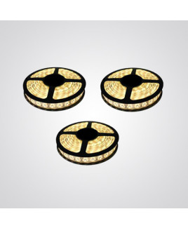 Ryna Yellow Colour LED Strip Light Warm 5 Meters Each (Water Proof)-Pack of 3