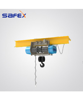 Safex 2 Tonnes Capacity And 6 Mtr. Lift Geared Travel Wire Rope Hoist